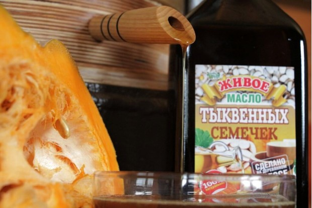 Масло тыквенных семечек 100% сыродавленное
