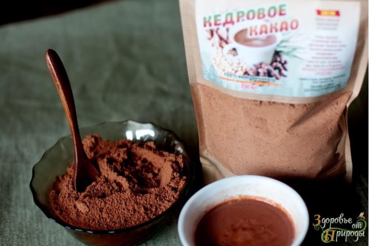 Кедровое какао натуральное 200гр