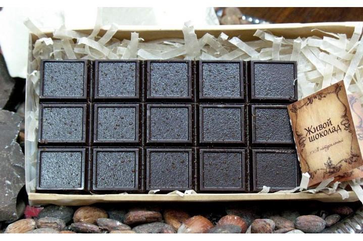 Плитка шоколада на сиропе тапинабура 100гр.