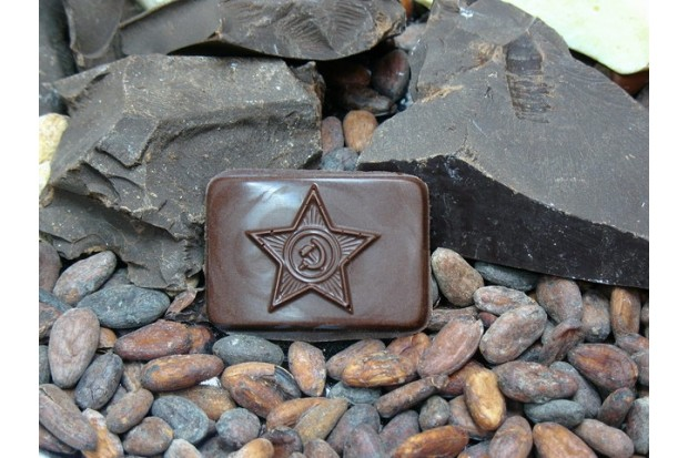 Полностью натуральный шоколад Бляха - подарок мужчинам