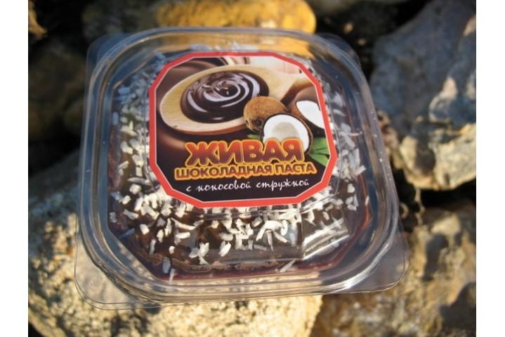 Живая шоколадная паста с кокосом