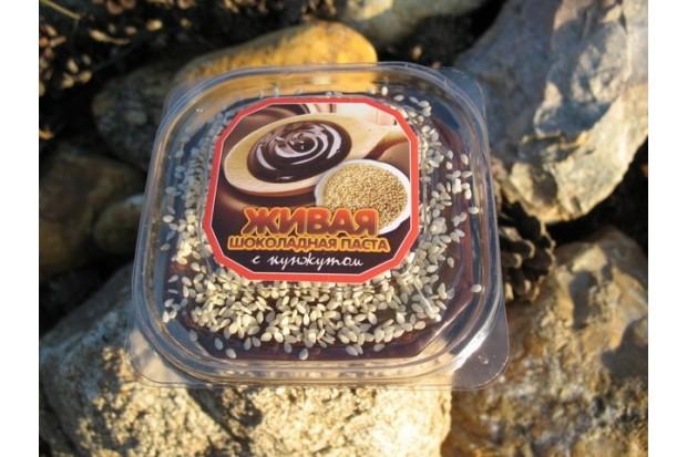 Шоколадная паста из какао с кунжутом с полностью натуральным составом купить